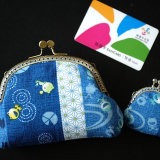 CaCa Crafts | [small] dragonfly and frog gold outlet Cosmetic Bag