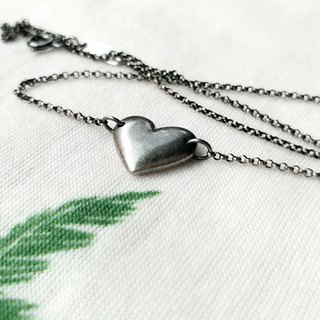 Heart 925 Silver Clavicle Necklace / Ag No. 060