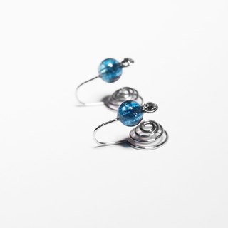 Kamcheng Sweet Series | Tourmaline-Blue Stainless Steel Earrings