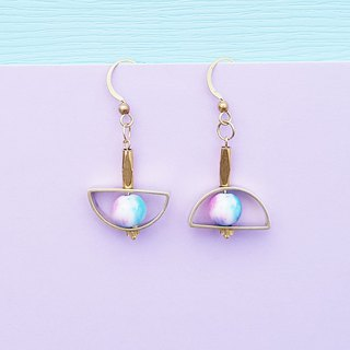 <Full Moon Party-迷幻Party> Brass earrings minimalist geometric personality Valentine&#39;s Day