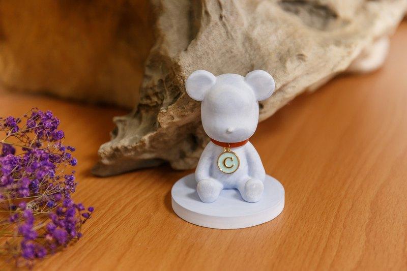 小熊擴香石 專屬字母名牌 情人節禮物 生日禮 新婚賀禮【客製化】