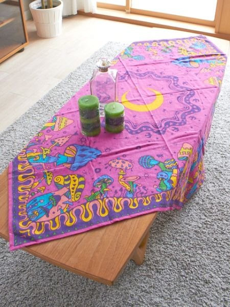 【Pre-order】 ⊙ night mushroom mushroom world tablecloth / fabric ✱ (three-color)