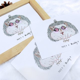 Little hedgehog monster  Fortune teller   Post Cards