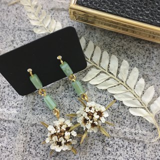 Crystal Emperor Tree Dry Flower Earrings / Ear Pins / Ear Clips