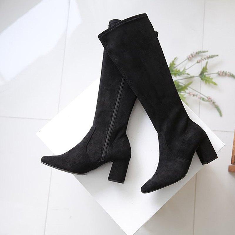 PRE-ORDER 韓國人手製 MACMOC Kara (Black) 長靴 7cm