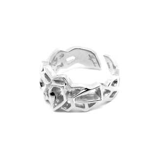 WIREFRAME Ring (S) / White Gold (Small)