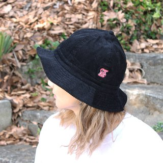 CORDUROY BALL HAT # BLACK / THE STRAIT