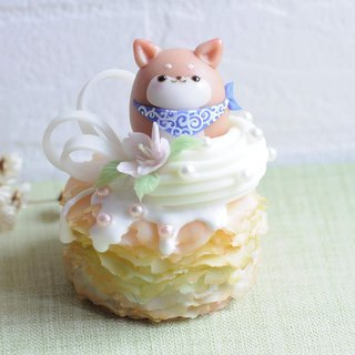 :│Sweet Dream│: Shiba Inu: Sakura Rainbow Melaleuca Cake/Pure Decoration/Customization/Birthday/Gift