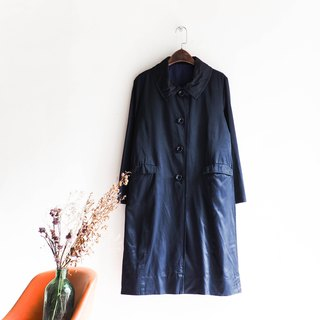 River water mountain - Aichi deep sea black blue whale dolphin travel antique trench coat coat trench_coat dustcoat jacket coat oversize vintage