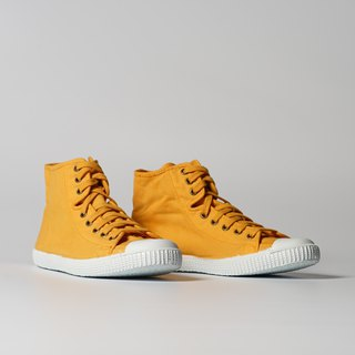 Spanish canvas shoes high tube mustard yellow fragrant shoes 61997 64