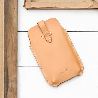 Rustic dyed yak leather handmade iPhone case / mobile phone case