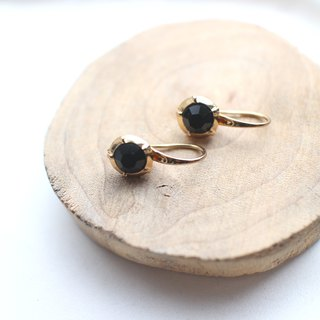 Black lady- Brass earrings