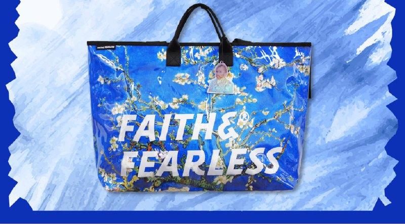 Faith & Fearless x 梵高(限定版)_Pop Bag_盛開的杏樹