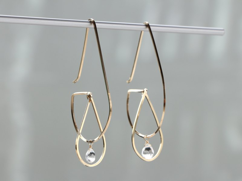 14kgf- Floating in the drop pierced earrings