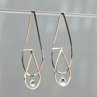 14 kgf - Floating in the drop pierced earrings