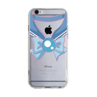 Transparent sailor uniform light blue iPhone X 8 7 6s Plus 5s Samsung S8 S9 mobile phone case