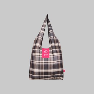 grion waterproof bag - Shoulder dorsal paragraph (L) - Limited funds - Grey Plaid