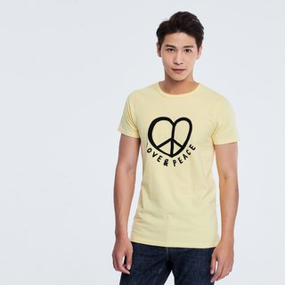 Love & Peace peach cotton T-shirt Man