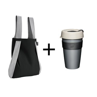 German Notabag Note Bag - Storm + Australia KeepCup Portable Coffee Cup L - Gentleman