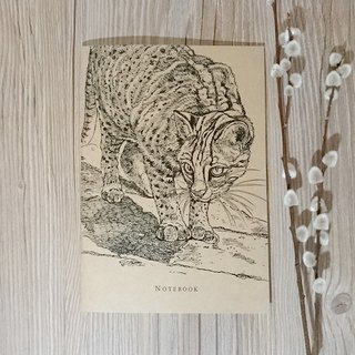 Stone Tiger - animal line painted notebook