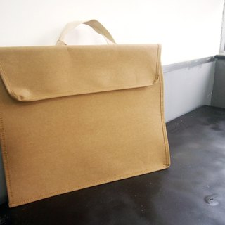 Washable Paper Folder Bag briefcase bag Laptop bag, Work handbag, Portfolio Bag, Retro File Folder Bag Washable Kraft Paper