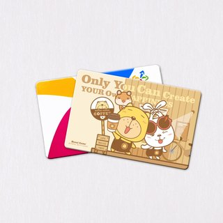 Helpless bear - bear shop ticket card sticker