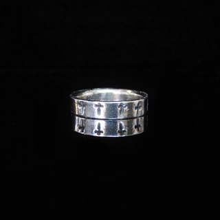 [Love and Peace Series - Cross Faith] handmade silver ring. Commemorative ring. Valentine's Ring