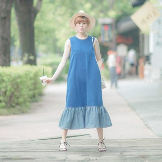 Mu Wei: A Line long-term fishtail dress