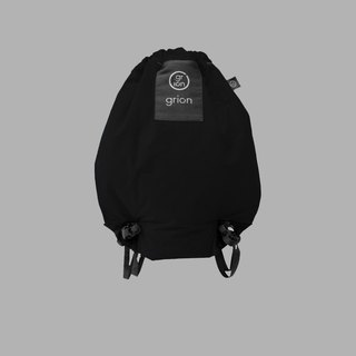 grion waterproof bag - back section (S) black