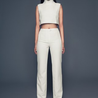 Joyce Long Pants in Off-White