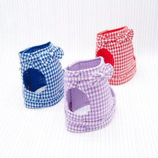 【Momoji】 Pet Vest Harness - Houndstooth (L)