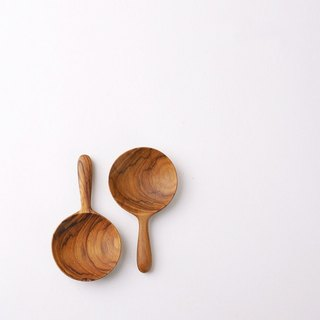 [Mi] New • teak hand spoon dessert spoon / teaspoon teaspoon / wood spoon (round section)
