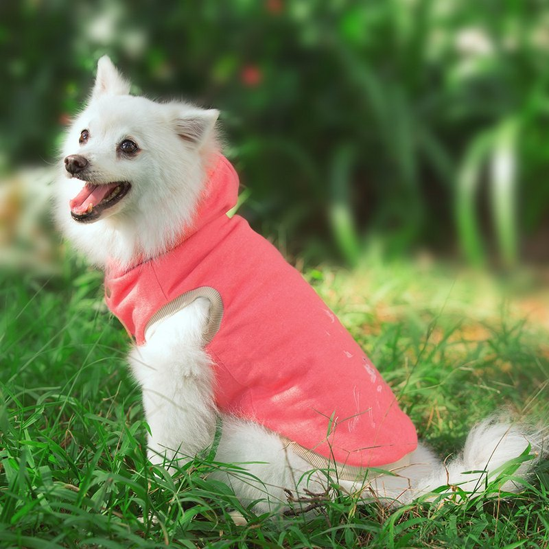 Tencel cap pet warm jacket - red