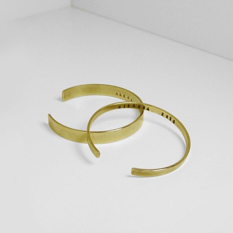 經典手環 黃銅
