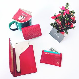 Christmas combination gift bag (limited to spot non-customized goods) passport holder + card holder + business card holder