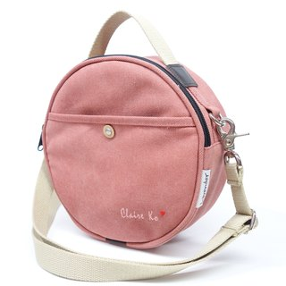 Round shoulder bag / Round bag Customized free embroidered word to create exclusive package