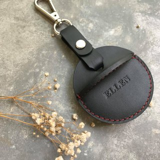 KAKU leather design gogoro key holster black red line