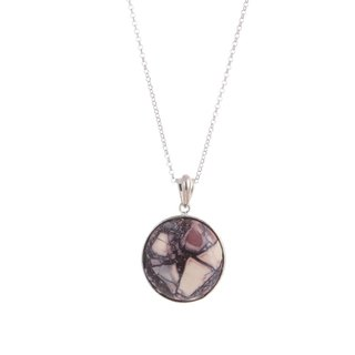 Artist Collection - S925 Sterling Silver With Porcelain Pendant 01