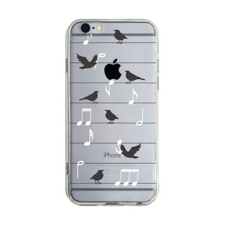 Custom bird music transparent Samsung S5 S6 S7 note4 note5 iPhone 5 5s 6 6s 6 plus 7 7 plus ASUS HTC m9 Sony LG g4 g5 v10 phone shell mobile phone sets phone shell phonecase