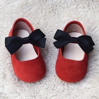Red Baby Girl Shoes, Leather Baby Shoes, Red Mary Jane Shoes, Flower Girl Shoes