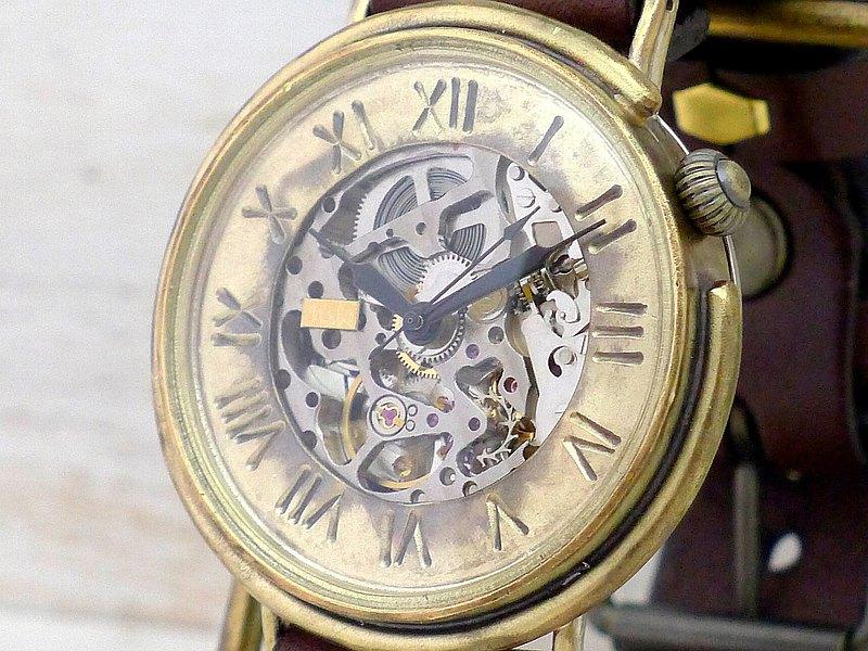 BAM043羅馬自動黃銅黃銅超大型42毫米手工腕錶(BAM043羅馬)