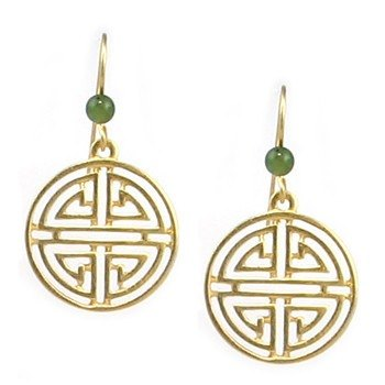 Longevity pattern earrings