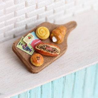 Miniature Japan Bread Set Pin