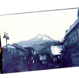 Cyanotype postcards cyanotype postcard (Yufuin)