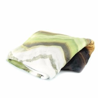 HARD SWIRLS GREEN THROW BLANKET
