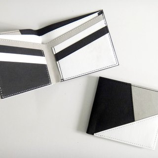 naturaism black and white washable kraft paper short wallet
