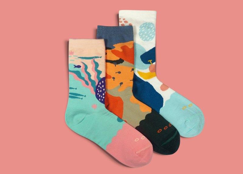 7156e51be9c11 Dear, Buncho Gift Box 3P01 Socks Men's Socks Women's Socks Color Socks  Geometric Pattern Designer Socks - Shop Goodpair Socks - Socks | Pinkoi