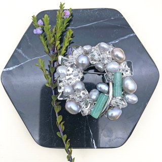 Exquisite - Japanese Style Brooch【Mini Pearls& Jade】【wedding 】【Christmas gift】
