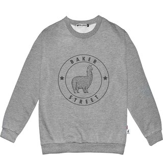 British Fashion Brand -Baker Street- Alpaca Stamp Printed Sweater