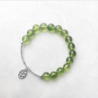 | Elbow Series | Bamboo Olivine (S925 Sterling Silver x Bracelet x Handmade x Customized.)